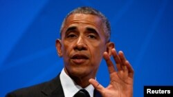 El presidente Obama habló desde la Universidad Stanford, en Palo Alto, California, donde asiste a la Cumbre Global Empresarial.