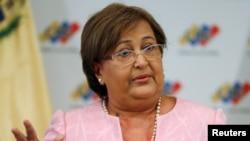 Tibisay Lucena, presidente do Conselho Nacional Eleitoral