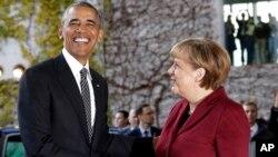 Барак Обама и Ангела Меркель. Берлин, Германия. 18 ноября 2016 г.