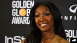 Isan Elba, daughter of Idris Elba, appears at a press conference naming her as the 2019 Golden Globe Ambassador at The Four Seasons Los Angeles, Nov. 14, 2018.