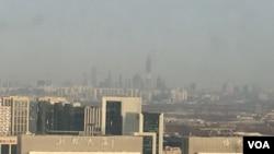 2017年1月8日,北京霾散。能见度达20公里。