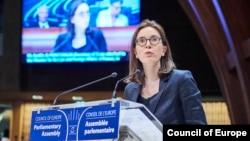 Амелі Моншален, державний секретар міністерства закордонних справ Франції з питань Європи, на сесії ПАРЄ у Страсбурзі 24 червня 2019 р.