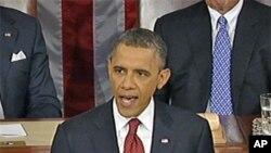 美國總統奧巴馬星期二發表國情諮文。
