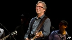 Eric Clapton, Crossroads Guitar Festival 2013, Madison Square Garden, New York. (Photo by Charles Sykes/Invision/AP)