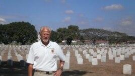 First Sgt. John Gilbert at the Clark Veterans Cemetery in the Philippines, Feb. 22, 2013. (Photo: VOA/Simone Orendain)