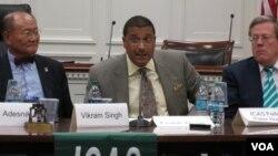 프랭크 로즈 미 국무부 군축·검증·이행담당 차관보 (가운데)가 19일 워싱턴DC의 레이번 의원회관에서 한미연구소(ICAS) 주최로 열린 토론회에서 연설하고 있다.
