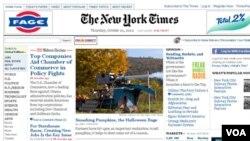 """En Twitter, el hijo del New York Times tiene 10.3 millones de seguidores (""""followers""""). Cada 4 segundos, un mensaje (tweet) con un vínculo del NYT es remitido a esta última red social."""