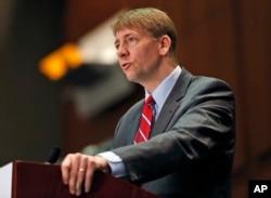 时任消费者金融保护局局长的科德雷在维吉尼亚州里士满讲话。(2015年3月26日)