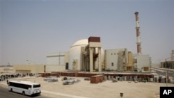 The reactor building of the Bushehr nuclear power plant is seen, just outside the southern city of Bushehr, Iran, 21 Aug 2010