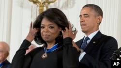 Prezident Obama və Opra Vinfri