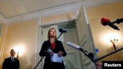 اجلاس کے بعد یورپی یونین کی خارجہ امور کی سربراہ صحافیوں سے گفتگو کے لیے آرہی ہیں