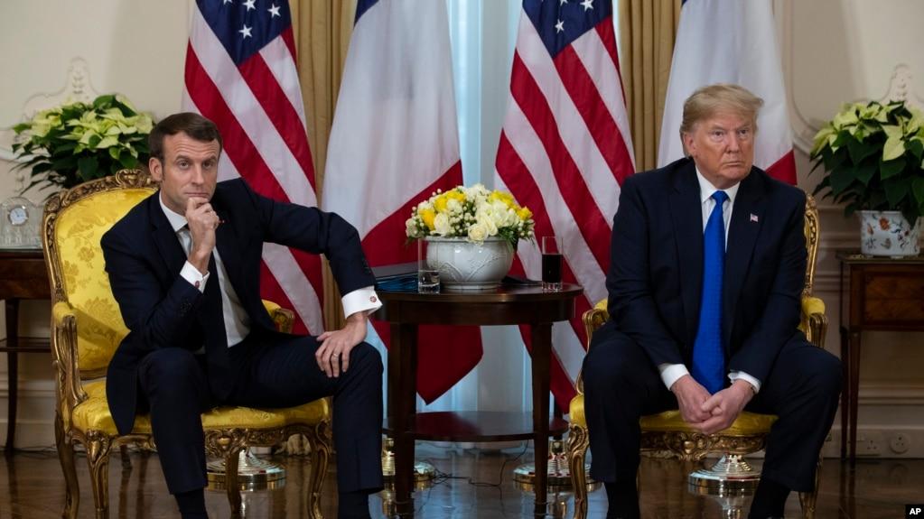 Tổng thống Pháp và Mỹ trong một cuộc gặp hồi cuối năm ngoái.