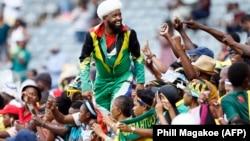 Masu goyon bayan 'yan wasan Bafana-Bafana na Afirka ta Kudu