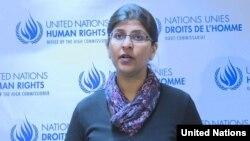 Bà Ravina Shamsadani- người phát ngôn của cơ quan tị nạn Liên Hiệp Quốc.