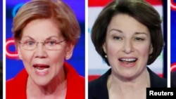 Elizabeth Warren et Amy Klobuchar