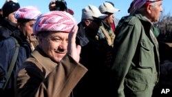 Presiden wilayah otonom Irak Kurdistan, Massoud Barzani.