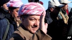 Kurdiston rahbari Mas'ud Barzoniy