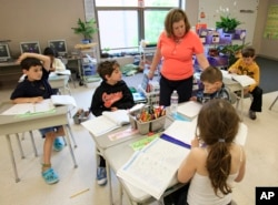 The Woodrow Wilson Foundation is looking for ways to make history lessons feel more relevant to young Americans. Pictured: File photo of second grade students at Moreland Hills Elementary School in Pepper Pike, Ohio.