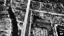 1945년 8월 9일 원자폭탄 투하로 폐허가 된 나가사키 시내. (자료사진)