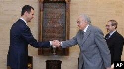 Башар Асад и Лахдар Брахими