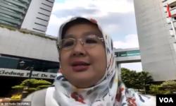 Juru bicara Kementerian Kesehatan Siti Nadia. (Foto:VOA)