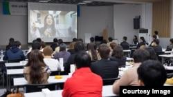 한국의 탈북자 정착지원재단인 '남북하나재단'의 강연 행사. 사진 출처=남북하나재단 공식 페이스북 페이지. (자료사진)