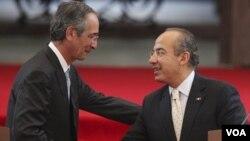 Ambos mandatarios se comprometieron a vigilar 956 kilómetros de frontera entre México y Guatemala.