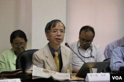 香港基督教中福教会牧师邬小鹤(美国之音杨明拍摄 )