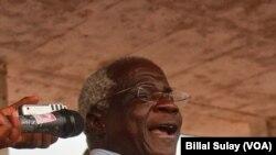 Afonso Dhlakama em campanha em Sofala. Outubro 2014