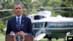 29일 백악관에서 바락 오바마 미국 대통령이 러시아에 대한 추가 제재를 발표했다.