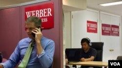 Jay Webber dari Partai Republik adalah saingan Mikie Sherill. (C. Presutti/VO