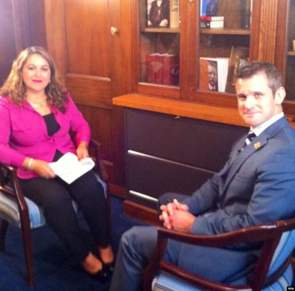 TV Ashna's Zheela Noori in an interview with Congressman Adam Kinzinger on Afghanistan Politics.