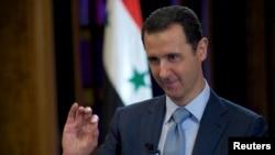 Tổng thống Syria Bashar al-Assad trong cuộc phỏng vấn với BBC tại Damascus, ngày 9/2/2015.