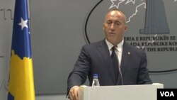 Ramuš Haradinaj na današnjoj konferenciji za novinare