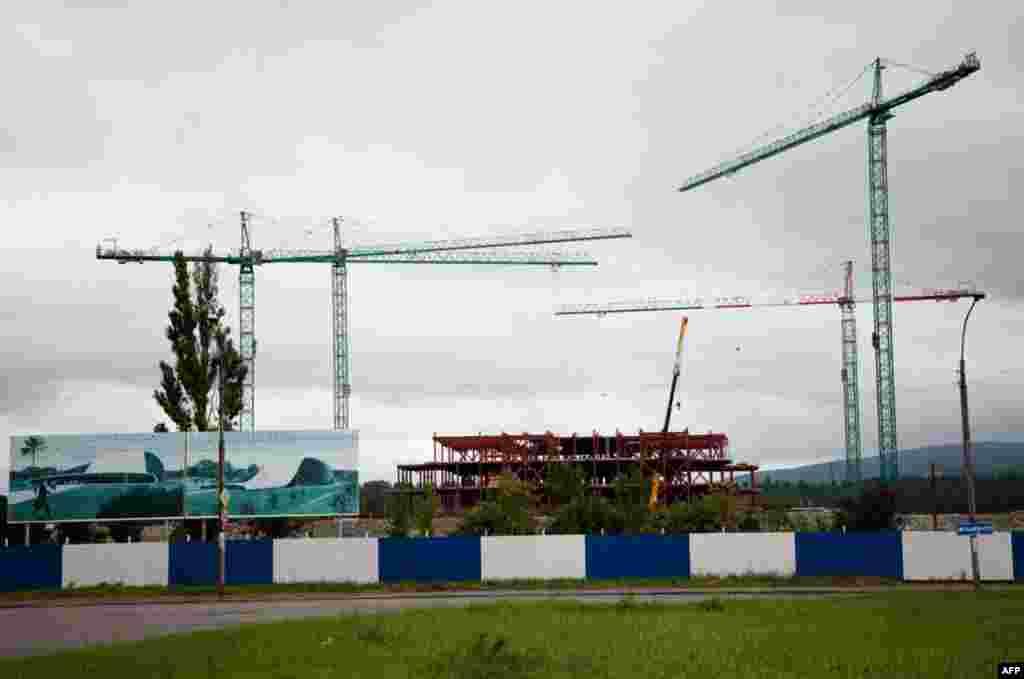 Строительство здания Нового парламента в Кутаиси, Грузия
