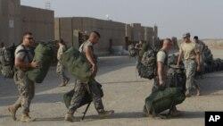 Sojojin Amirka a Nasiriya Iraq.