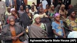Des filles de Chibok libérées le 13 octobre 2016