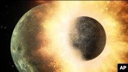 زمین کے دو چاند ! ایک چاند دوسرے میں ضم ہوگیا
