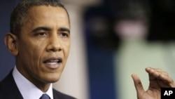 El presidente Obama habla sobre el presupuesto y el cierre parcial del gobierno esta semana en la Casa Blanca.