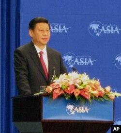 2010年4月习近平在博鳌论坛上发表演讲