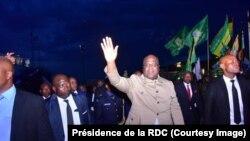 Perezida Felix Tshisekedi ashitse i Goma, muri Kivu y'uburaruko, RDC, 14/04/2019