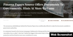 """The anonymous source behind the Panama Papers speaks to justifications for the massive leak of offshore documents in a statement, """"The Revolution Will Be Digitized."""""""