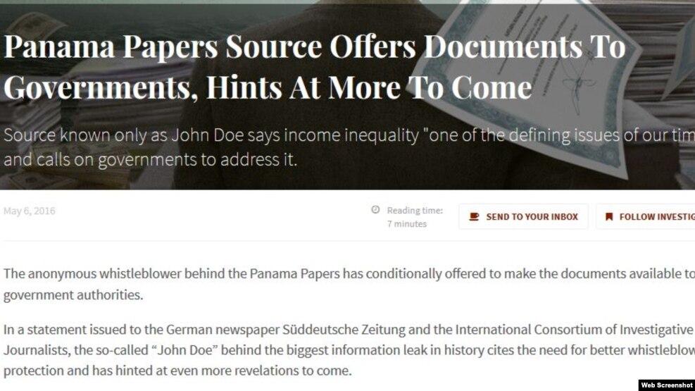"""""""Dokumentet e Panamasë"""" në internet"""