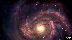 Sao băng trong hình ảnh tổng hợp dựa trên những quan sát của kính thiên văn Chandra và Spitzer, và kính viễn vọng cực lớn ESO