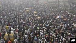 Masu zanga-zangar janye tallafin man fetur a Nijeriya