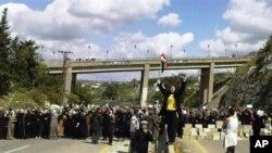 敘利亞婦女在抗議