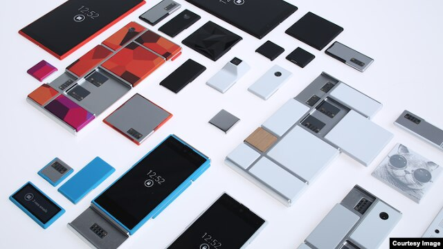 Google's 'Project Ara' would allow users to build their own phone using various modules connected by an 'endoskeleton.' (Motorola)