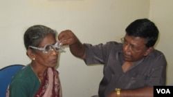 Ms. Mathai's non-profit company, So Other May See or SOMS for short, supplies eye care and new eye glasses for people in Sri Lanka who cannot afford either. (Courtesy SOMS)