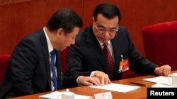 中共總書記習近平(左)與中國總理李克強(右)。(資料照)