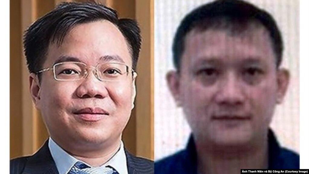 Tề Trí Dũng (trái), nguyên tổng giám đốc IPC, và Bùi Quang Huy, tổng giám đốc Công ty Nhật Cường, bị khởi tố và bắt tạm giam trong ngày 14/5. (Ảnh Thanh Niên và Bộ Công An)